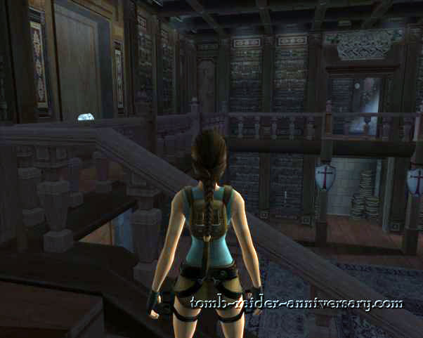 Tomb Raider Anniversary - Croft Mansion - Go up the stairs, and into the room