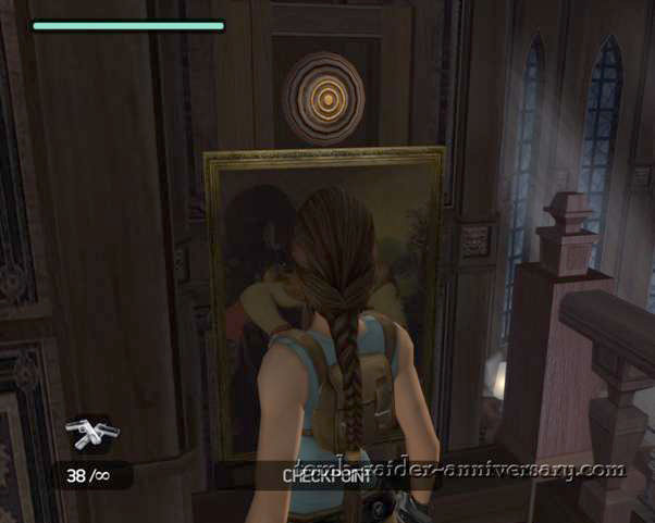 Tomb Raider Anniversary - Croft Mansion - shoot the target you just revealed