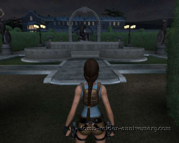 Tomb Raider Anniversary - Croft Mansion - the exact opposite side of the gate