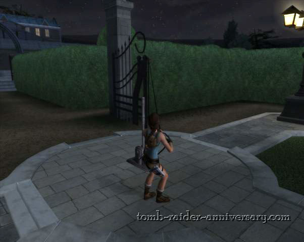 Tomb Raider Anniversary - Croft Mansion - you can exit through there